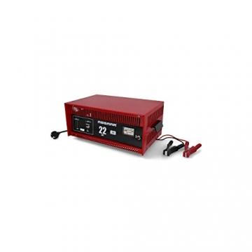 Absaar 635622 77917 Batterieladegerät Auto Ladegerät 22A 12V mit Starthilfefunktion, für 30 Ah - 225 Ah Batterien, rot/schwarz - 2