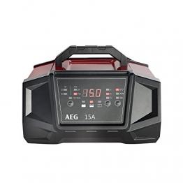 AEG 158009 Werkstatt-Ladegerät WM Ampere für 6 und 12 Volt Batterien, mit Autostart-Funktion, CE, IP 20, 15 A - 1