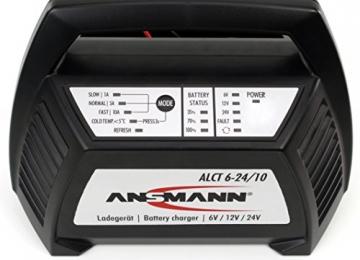 ANSMANN 1001-0014 Autobatterie ALCT Ladegerät ALCT 40353 - Vollautomatisches Batterieladegerät für Autobatterien & Bleiakkus mit 6V, 12V & 24V / 10A - - 3