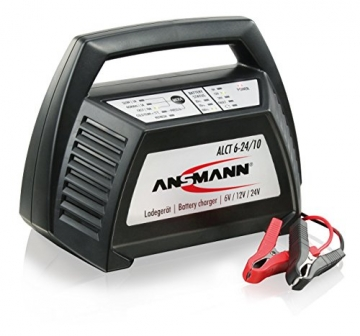 ANSMANN 1001-0014 Autobatterie ALCT Ladegerät ALCT 40353 - Vollautomatisches Batterieladegerät für Autobatterien & Bleiakkus mit 6V, 12V & 24V / 10A - - 1