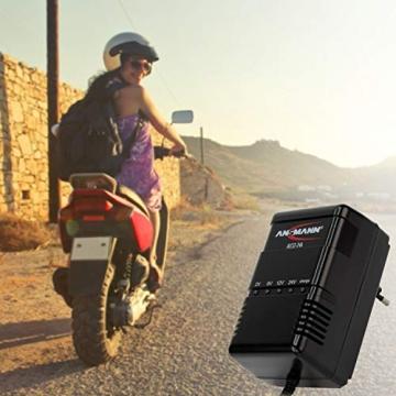 ANSMANN Autobatterie Ladegerät ALCS 2-24 A - Vollautomatisches Batterieladegerät für Autobatterien & Bleiakkus mit 2V, 6V, 12V & 24V / 900mA - Erhaltungsladegerät ideal für PKW, Motorrad, Roller - 4