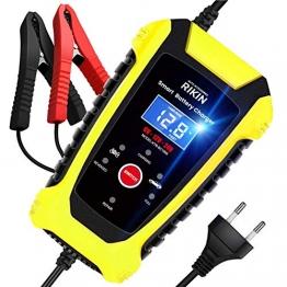 AOKBON Ladegerät Autobatterie 6A 6V/12V/24V Batterie Batterieladegerät Vollautomatisches Intelligentes Erhaltungsladegerät für Auto Motorrad LKW oder Boot - 1