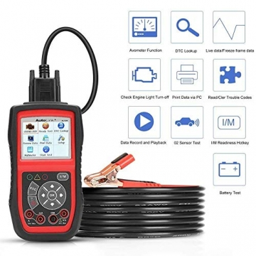 Autel KFZ-Diagnosegeräte AL539B obd2 Diagnose,Fehlercoder lesen und löschen,Echtzeit-PCM-Daten,Batterie-Test,AVOmeter für Spannung usw - 6