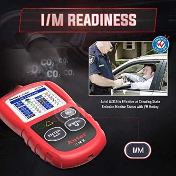 Autel obd2 Diagnosegerät AL319 EOBD Diagnose für Diesel und Benzin Fehlercode lesen und löschen,MIL ausschalten,Echtzeitdaten und Freeze Frame anzeigen,DTC-Definition - 2