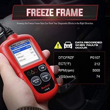 Autel obd2 Diagnosegerät AL319 EOBD Diagnose für Diesel und Benzin Fehlercode lesen und löschen,MIL ausschalten,Echtzeitdaten und Freeze Frame anzeigen,DTC-Definition - 4