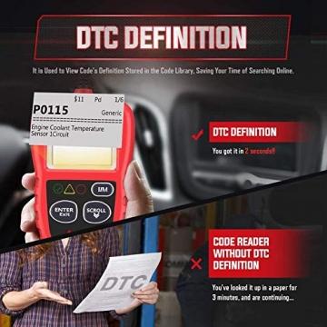 Autel obd2 Diagnosegerät AL319 EOBD Diagnose für Diesel und Benzin Fehlercode lesen und löschen,MIL ausschalten,Echtzeitdaten und Freeze Frame anzeigen,DTC-Definition - 6