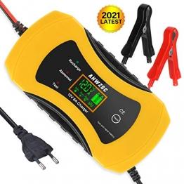 Autobatterie Ladegerät 8A 12V Batterieladegerät Auto Vollautomatisches Ladegerät mit LCD-Bildschirm Batterieladegerät für Auto, Motorrad, Boote und mehr - 1