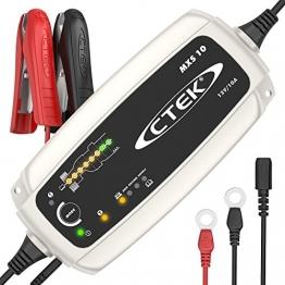 CTEK MXS 10 - Vollautomatisches Batterieladegerät (Grundladung, Erneuerung, Erhaltungsladung von grösseren Auto-, Caravan, Boot-, Wohnmobil-Batterien) 12V, 10 A - EU Stecker - 1