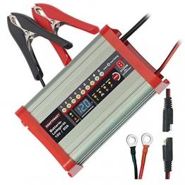 Dino KRAFTPAKET 136320 Batterieladegerät 20A-12V mit Camping-Funktion Nachtmodus und Memory-Speicher für KFZ PKW Auto Wohnmobil Wohnwagen Camper, Silber - 1