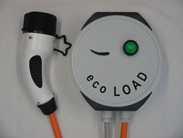 ecoLOAD Elektroauto Ladegerät Ladestation Wallbox 3,7 kW Ladekabel Typ2 5m Aluminiumgehäuse Wandmontage Testqualitätsurteil Zuverlässigkeit SEHT GUT - 1