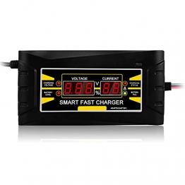 Festnight Volles automatisches Autobatterie-Ladegerät 110V / 250V zu 12V 6A 10ASmart schnelle Energie, die für nassen trockenen Blei-Säure-Digital LCD-Anzeige EU-Stecker auflädt - 1