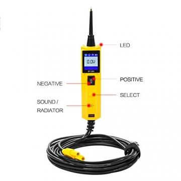 KFZ Auto Power Probe Kit, AUTOOL 6-30V Elektrisches Diagnosegerät KFZ Multimeter Voltmeter Auto Spannungsprüfer mit LED Lampe für 6V/12V/24V für Auto Boot Motorrad Schaltkreis Systeme - 3