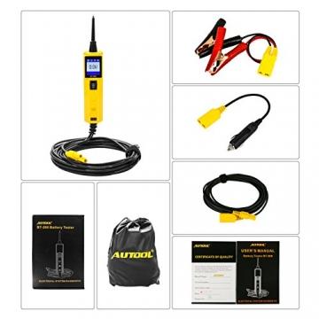 KFZ Auto Power Probe Kit, AUTOOL 6-30V Elektrisches Diagnosegerät KFZ Multimeter Voltmeter Auto Spannungsprüfer mit LED Lampe für 6V/12V/24V für Auto Boot Motorrad Schaltkreis Systeme - 4