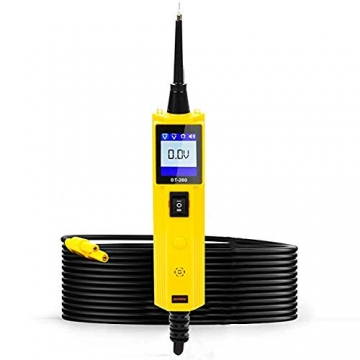 KFZ Auto Power Probe Kit, AUTOOL 6-30V Elektrisches Diagnosegerät KFZ Multimeter Voltmeter Auto Spannungsprüfer mit LED Lampe für 6V/12V/24V für Auto Boot Motorrad Schaltkreis Systeme - 1