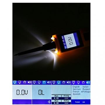 KFZ Auto Power Probe Kit, AUTOOL 6-30V Elektrisches Diagnosegerät KFZ Multimeter Voltmeter Auto Spannungsprüfer mit LED Lampe für 6V/12V/24V für Auto Boot Motorrad Schaltkreis Systeme - 5