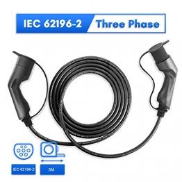 Morec ev ladekabel 32A Dreiphase 22KW für EV Charger ev ladegerät Ladestation typ 2 zu typ 2, IEC 62196-2 5M - 1