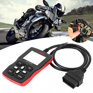 Motorrad Scanner, Fydun OBD2 Diagnosegerät Codeleser Kfz Diagnose Werkzeug Diagnosefehler Diagnose Tester für Automotor Fehlercode Lesegeräte - 2