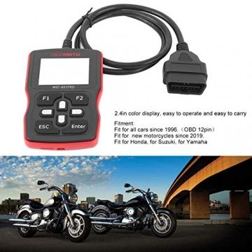 Motorrad Scanner, Fydun OBD2 Diagnosegerät Codeleser Kfz Diagnose Werkzeug Diagnosefehler Diagnose Tester für Automotor Fehlercode Lesegeräte - 5