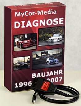 MyCor-Media OBD2 USB Diagnosegerät Interface für BMW Inpa, NCS Expert, Rheingold + Software - 1