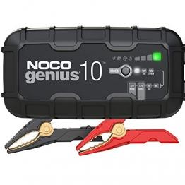 NOCO GENIUS10EU, 10A Vollautomatisches Intelligent Ladegerät, 6V und 12V Batterieladegerät, Erhaltungsladegerät, und Desulfator für Auto, Motorrad, KFZ, LKW, PKW, Boot, Roller, Wohnmobil und Wohnwagen - 1