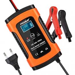 opamoo Autobatterie Ladegerät Batterie Ladegerät Auto 12V 5A Vollautomatisches Batterieladegerät Auto Erhaltungsladegerät mit LCD Mehrfachschutz für Autobatterie, Motorrad, Rasenmäher oder Boot - 1