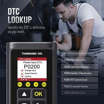 thinkcar OBD100 deutsch OBD2-Diagnosegerät für obd2 Fahrzeuge, Emission Fehlercode-Auslesegerät, 10 OBDII Funktion Diagnose für Benzin & Diesel - 2