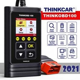 thinkcar OBD100 deutsch OBD2-Diagnosegerät für obd2 Fahrzeuge, Emission Fehlercode-Auslesegerät, 10 OBDII Funktion Diagnose für Benzin & Diesel - 1