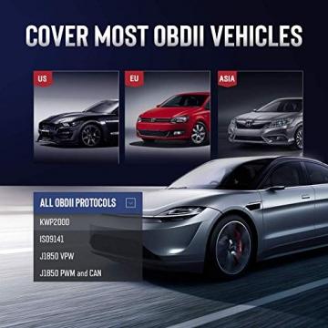 thinkcar OBD100 deutsch OBD2-Diagnosegerät für obd2 Fahrzeuge, Emission Fehlercode-Auslesegerät, 10 OBDII Funktion Diagnose für Benzin & Diesel - 4