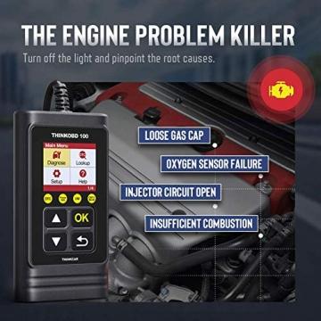 thinkcar OBD100 deutsch OBD2-Diagnosegerät für obd2 Fahrzeuge, Emission Fehlercode-Auslesegerät, 10 OBDII Funktion Diagnose für Benzin & Diesel - 5