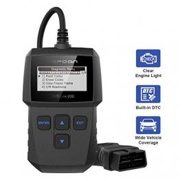 TOPDON AL200 OBD2 Diagnosegerät Deutsch Kfz-Auslesegerät für Benzin- & Dieselmotor(ISO9141-2 PWM J1850 VPW J1850 CAN Bus)Fehlercode auslesen/löschen - 1
