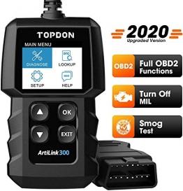 TOPDON OBD2 Diagnosegerät AL300 Auto Universal Fahrzeug Fehlercodeleser mit vollen OBD2-Funktionen, Lesen und Löschen von Codes zum Ausschalten der Motorkontrollleuchte - 1