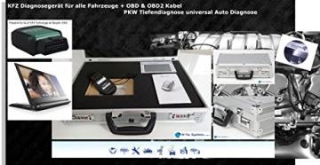 W-Tec Systems KFZ Diagnosegerät für alle Fahrzeuge + OBD & OBD2 Kabel PKW Tiefendiagnose universal Auto Diagnose - 3