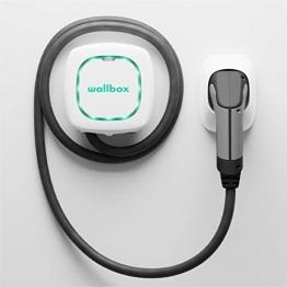 Wallbox Pulsar Plus Ladegerät mit einer Ladeleistung von bis zu 22 KW, Typ 2-Stecker und 5-Meter-Ladekabel. Bluetooth- und Wi-Fi-Konnektivität. - 1