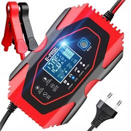 YDBAO Autobatterie Ladegerät 6A 12V 24V Batterieladegerät mit LCD Batterieladegerät Mit Lademodus für Motorrad und Lithium-Eisen-Batterien Kompatibel für Blei-Säure,Lithium, LifePO4 - 1