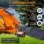 500Wh Powerstation mit 2 x 220V AC, 2 x 12V DC, 4 x USB, PD und kabelloses Laden, Solar Generator Mobiler Stromspeicher mit 230V Steckdose für Outdoor, Camping, Garten, Party und als Notstromaggregat - 6