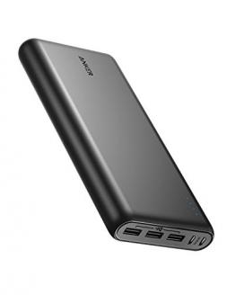 Anker PowerCore 26800mAh Power Bank Externer Akku mit Dual Input Ladeport, Doppelt so Schnell Wiederaufladbar, 3 USB Ports für iPhone XR/XS/X / 8 / 8Plus / 7, Samsung Galaxy und weitere (Schwarz) - 1
