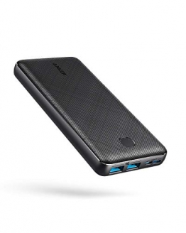 Anker PowerCore Essential 20000 Powerbank, 20000mAh externer Akku mit PowerIQ Technologie und USB-C Eingang, enorme Energiedichte, kompatibel mit iPhone, Samsung, iPad und mehr - 1