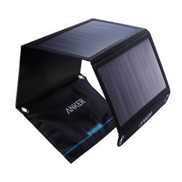 Anker PowerPort Solar Ladegerät 21W 2-Port, USB Solarladegerät für iPhone 7 / 7s / 6s / 6, iPad Air 2 / Mini 3, Galaxy S7 / S6 / S6 Edge und Tablet, Kamera usw. - 1