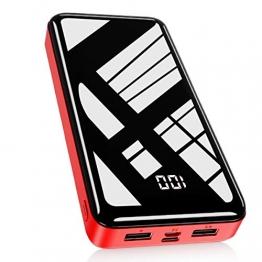 Bextoo Powerbank 30000mah Große Kapazität Externe Akkus LCD Display Batterie Pack 2 Eingängen 2 Ausgängen Tragbares Ladegerät Handy Akkupack USB C Power Bank für Smartphone, Samsung Huawei, Tablet - 1