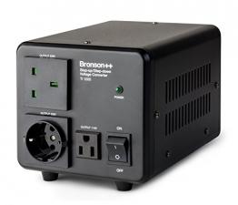 Bronson++ TI 1000 110 Volt USA Spannungswandler Ringkern-Transformator 1000 Watt - In: 110V oder 220V / Out: 110V und 220V - Bronson 1000W - 1