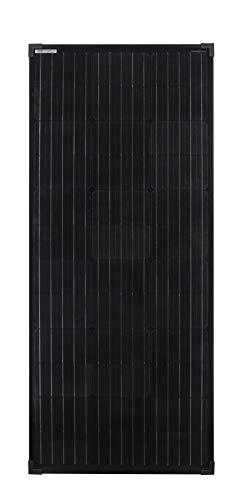 enjoysolar® Mono 100W Monokristallines Solar panel 100Watt Black Edition ideal für Wohnmobil, Gartenhäuse, Boot (Mono 100W Black) - 1