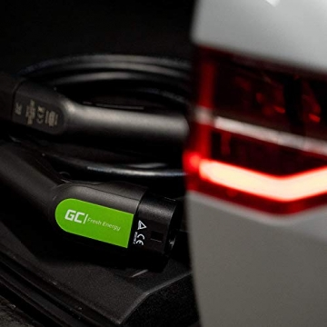 Green Cell® GC Type 2 Ladekabel für EV Elektroautos PHEV | 22kW | 32A | Typ 2 auf Typ 2 | 7 Meter | 3-Phasig | Kompatibel mit Tesla Model S / 3 / X/Y, ID.3, i3, Leaf, ZOE, EQC, I-Pace, E-Tron - 7