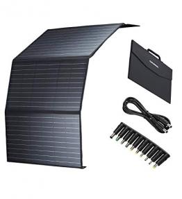 GRUNDIG faltbares Solarmodul 100W, monokristallines Solarpanel mit 2-USB Ports & 1 DC Port & 1Type-C für Wohnmobil, Gartenhäuse, Boot - 1