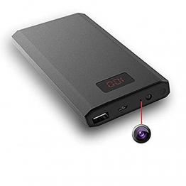 HD Versteckte Micro Mobile Powerbank 1080P Cam Kleine Spy Kamera Nachtsicht Mobile Aktivierung Überwachungskamera Tragbare Digitale Stromversorgung Display 10000 mAh@Laing-H - 1