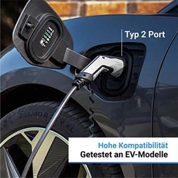 Hesotec Electrify eBox wr30-L SMART - EV Ladestation Typ 2 Elektroautos Hybridautos + 4m Ladekabel und APP I Wallbox 11 kW Ladeleistung 16 A Ladestrom – Ladegerät für E-Autos (Matt Schwarz) - 3