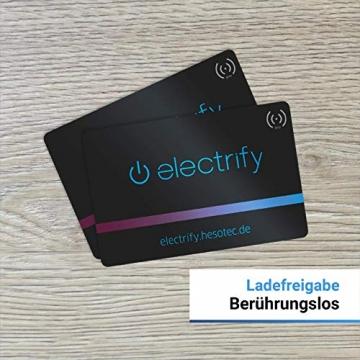 Hesotec Electrify eSat r20 SMART - EV Ladestation Typ 2 Elektroautos Hybridautos mit Fundamentgestell + APP I Ladesäule 22 kW Ladeleistung 32 A Ladestrom – Ladegerät für E-Autos (Edelstahl) - 6
