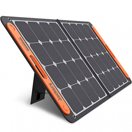 Jackery Faltbares Solarpanel SolarSaga 100 - Solarmodul für Explorer 240/500/1000 Tragbare Powerstation - Solarladegerät mit 2 x USB-Anschluss -100W Outdoor Solargenerator für Camping und Garten - 1