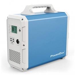 POWEROAK Leistungsstarkes 2400 Wh Solar-Kraftwerk Backup-Stromquelle Solargenerator Notbatterie-Backup Reine Sinuswelle 2AC-Steckdose Stromspeicher Stromspeicher für Wohnmobile im Freien Camping - 1