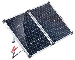 reVolt Faltbares Solarpanel: Faltbares mobiles Solar-Panel mit monokristallinen Zellen, 110 Watt (Mobile Solarzellen) - 1