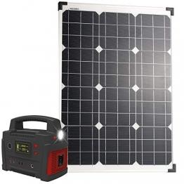 reVolt Solar Panels: Powerbank & Solar-Konverter mit 50-Watt-Solarpanel, 114 Ah, bis 600 W (Solarmodul Powerbank) - 1